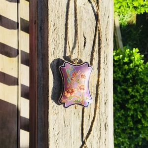 Jewelry - Vintage Enamel Butterfly & Flower Pendant Necklace